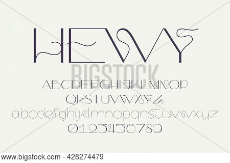 Hewy Is An Elegant Sans Serif Font In Scandinavian Design Style. Simple Line Letters Will Add A Touc