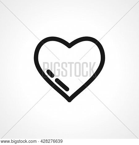 Heart Icon. Heart Simple Vector Icon. Heart Isolated Icon.