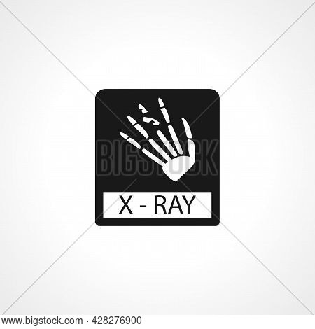 Fracture Hand Finger X Ray Icon. Hand X Ray Simple Vector Icon.