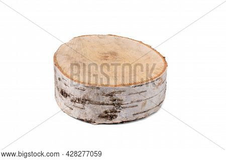 Small Birch Cut Isolated On White.