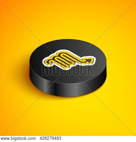 Isometric Line Scorpio Zodiac Sign Icon Isolated On Yellow Background. Astrological Horoscope Collec