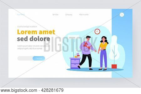 Woman Suffering From Dog Allergy. Boyfriend With Pet, Rash, Itchiness Flat Vector Illustration. Alle