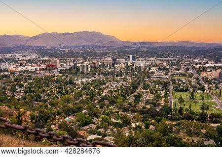 A Cityscape View Of The City Of Riverside In Southern California.