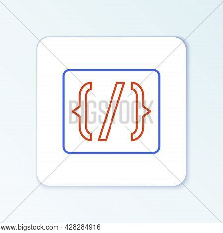 Line Programming Language Syntax Icon Isolated On White Background. Syntax Programming File System.