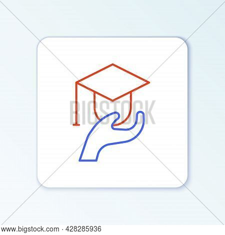 Line Education Grant Icon Isolated On White Background. Tuition Fee, Financial Education, Budget Fun