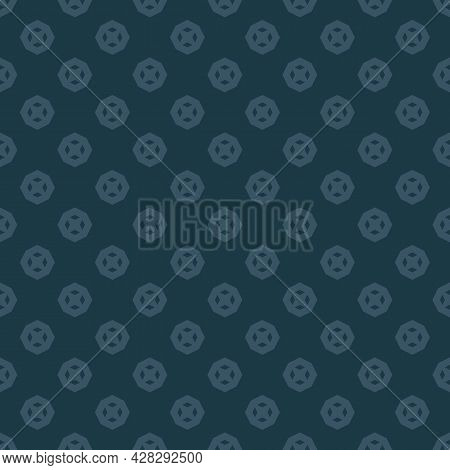 Subtle Vector Abstract Seamless Pattern. Modern Minimal Geometric Ornament With Octagonal Shapes. Si