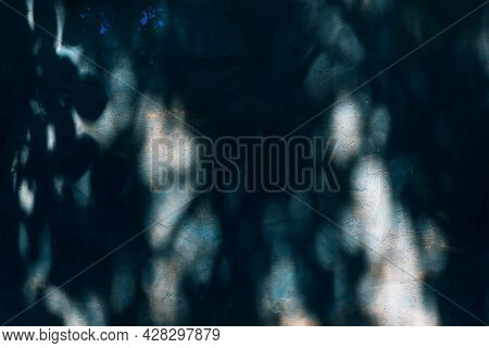 Abstract, Dark Scary Mysterious Abstract Background In Horror Style With Strange Light And Night Gho