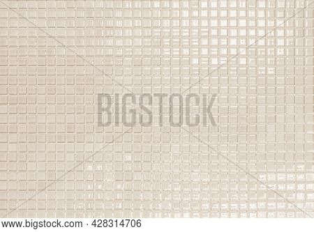 Cream Ceramic Brick Tile Wall. Blue Tiles Background. White Ceramic Tile Wall Background. Wall Tile