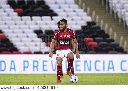 Rio, Brazil - July 29, 2021: Thiago Maia Player In Match Between Flamengo 6 Vs 0 Abc By Brazilian Cu