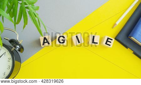 Word Writing Text Agile Motivational Call. Business Concept For Develop An Agility Towards Technolog
