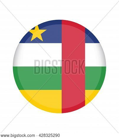 National Central African Republic Flag, Official Colors And Proportion Correctly. National Central A