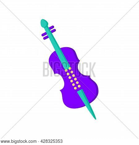 Cello Flat Icon. Classical String Orchestral Musical Instrument.classical, Ethnic And Modern Music.