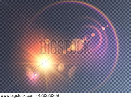 Magical Space Flash Effect With Colorful Halo