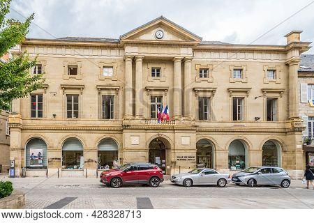 Brive La Gaillarde, France - June 22,2021 - Library Building In The Streets Of Brive La Gaillarde. B
