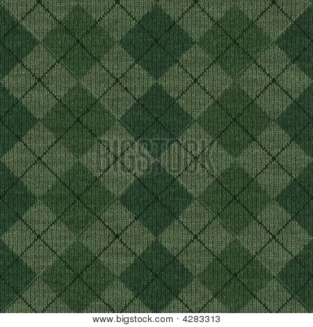 Green Argyle Knit - Seamless