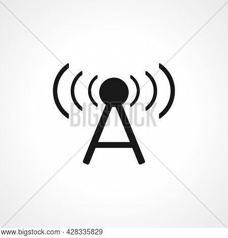 Antenna Icon. Cellular Icon. Antenna Simple Vector Icon. Antenna Isolated Icon.