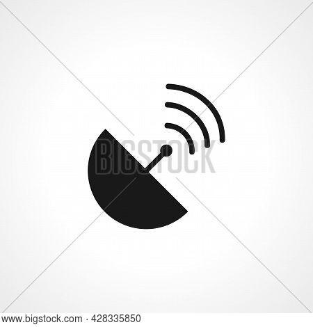 Satellite Antenna Icon. Satellite Antenna Simple Vector Icon. Satellite Antenna Isolated Icon.