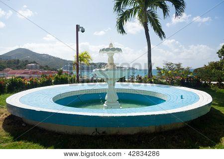 Blue Fountain Overlooks Charlotte Amalie