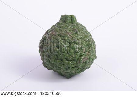 Citrus Hystrix, Called The Kaffir Lime, Makrut Lime, Thai Lime Or Mauritius Papeda, Is A Citrus Frui