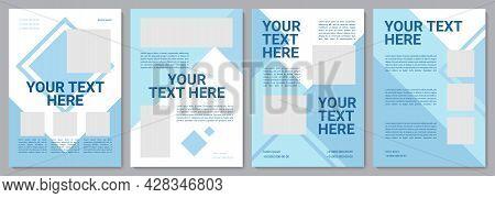 Blue Corporate Brochure Template. Present Infrormation. Flyer, Booklet, Leaflet Print, Cover Design