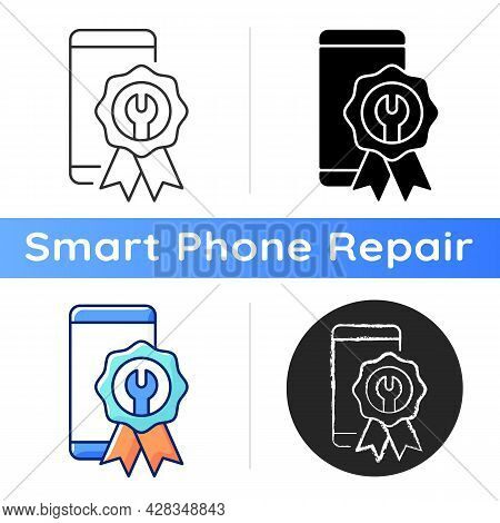 Certified Repairs Icon. Smartphone Authorized Renovate. Official Service. Professional Mobile Phone