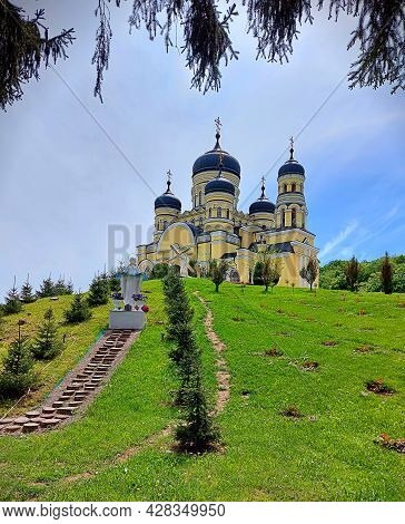Hâncu Monastery Is A Nunnery In The Republic Of Moldova. Holy And Orthodox Place In The Heart Of The