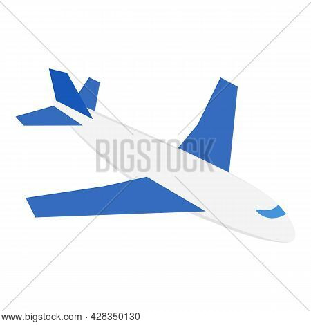 Airplane Icon Isometric Vector. Passenger Plane Icon. Air Transport