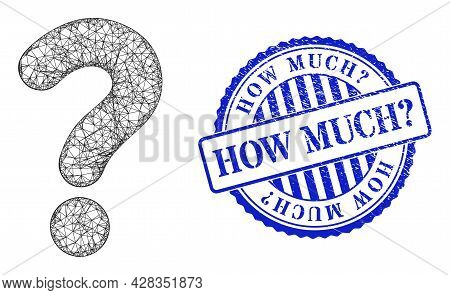 Vector Network Question Mark Carcass, And How Much Query Blue Rosette Unclean Stamp Seal. Crossed Ca