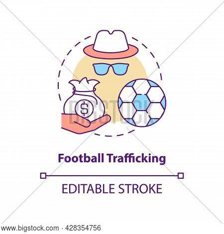 Football Trafficking Concept Icon. Illegal Exploitation Abstract Idea Thin Line Illustration. Traffi