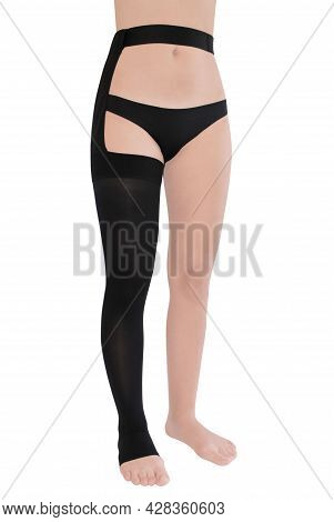 Open Toe Single Stocking. Compression Hosiery. Medical Stockings, Tights, Socks, Calves And Sleeves