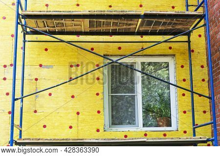 Insulation Of The Walls Of A Multi-storey Building, Construction Of A Multi-storey Building. Thermal