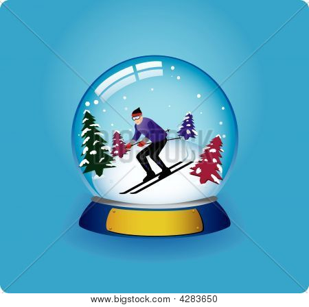 Snow Globe Skier
