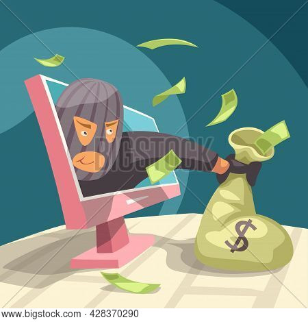 Modern Thief Stealing Money From Your Pc