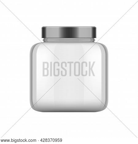 3d Clear Empty Empty Glass Jar With Black Cap