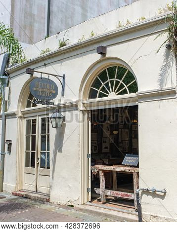 New Orleans, La - July 22: Bevolo Gas And Electric Lights Museum In The French Quarter On July 22, 2