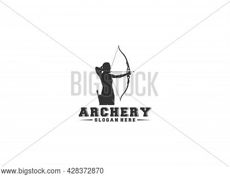 An Archer Logo Template  On A White Background