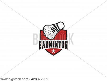 Logo For Badminton Sport Or Badminton Championship
