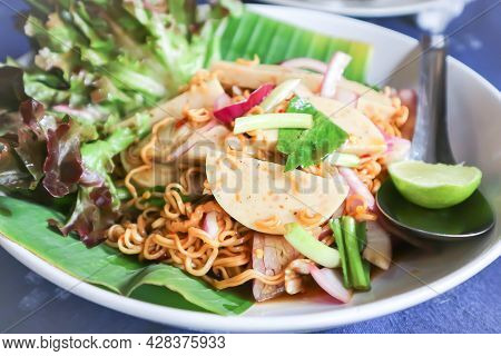 Noodles Or Noodles Without Soup, Spicy Noodles Or Spicy Pasta