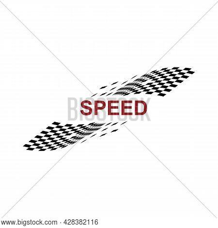 Race Flag Icon  Simple Design Race Flag Logo Template