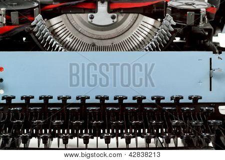 Retro Typewriter Close Up With Number Keys