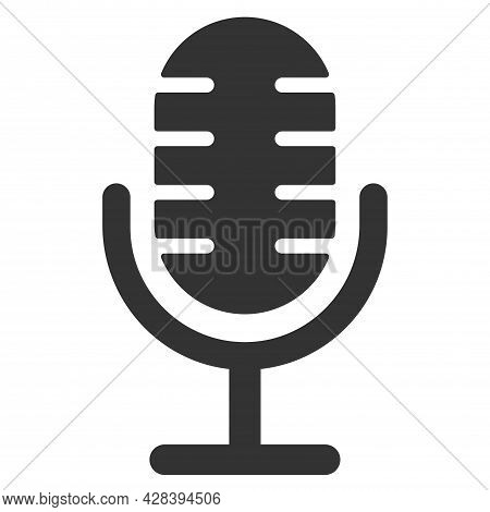 Microphone Icon. Speaker Vector. Sound Sign Isolated On White Background. Simple Illustration For We