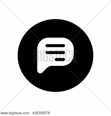 Simple Speech Bubble Or Bubble Talk Black Icon. Trendy Flat Isolated Symbol, Sign Used For: Illustra