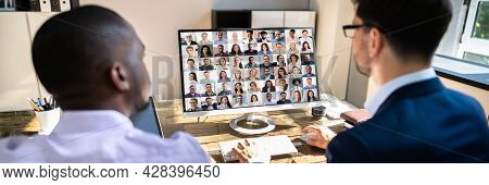 Elearning Video Conference Meeting Or Webinar In Office
