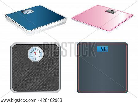 Electronic And Mechanical Scales. Bathroom Scales. Scales.