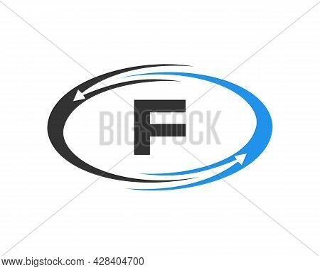 Technology Logo Design With F Letter Concept. F Letter Technology Logo
