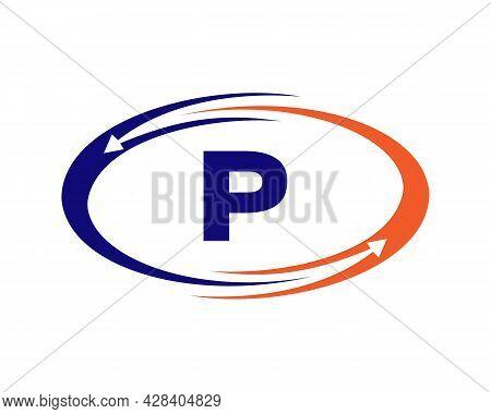 Technology Logo Design With P Letter Concept. P Letter Technology Logo