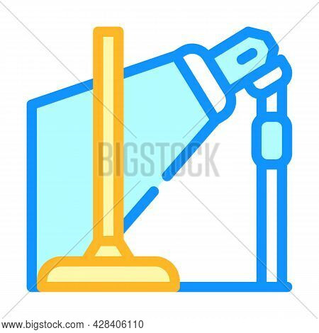 Equipment For Dancer Leg Color Icon Vector. Equipment For Dancer Leg Sign. Isolated Symbol Illustrat