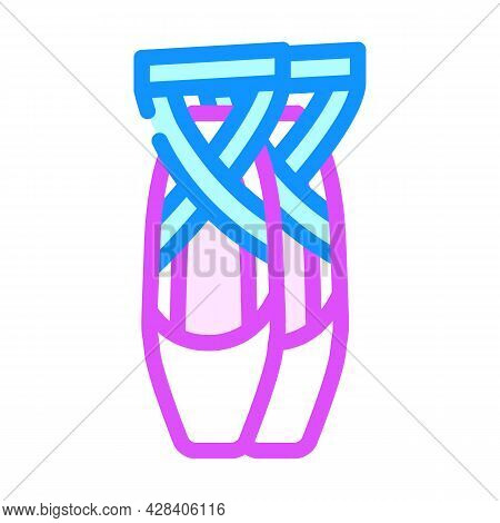 Shoes Dancer Color Icon Vector. Shoes Dancer Sign. Isolated Symbol Illustration