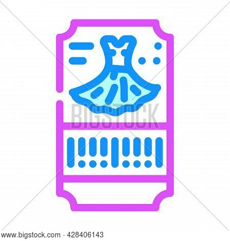 Dance Dress Ticket Color Icon Vector. Dance Dress Ticket Sign. Isolated Symbol Illustration