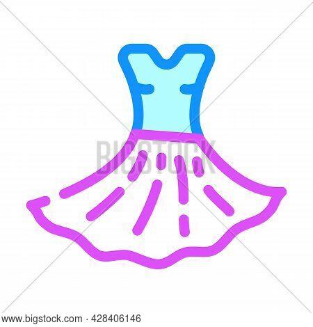 Dress Dancer Color Icon Vector. Dress Dancer Sign. Isolated Symbol Illustration